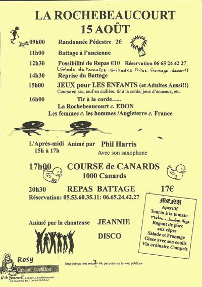 Fêtes du 15 aout 2015