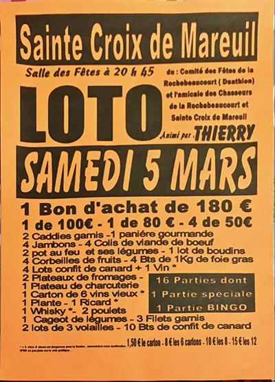 Loto, le samedi 5 mars 2016