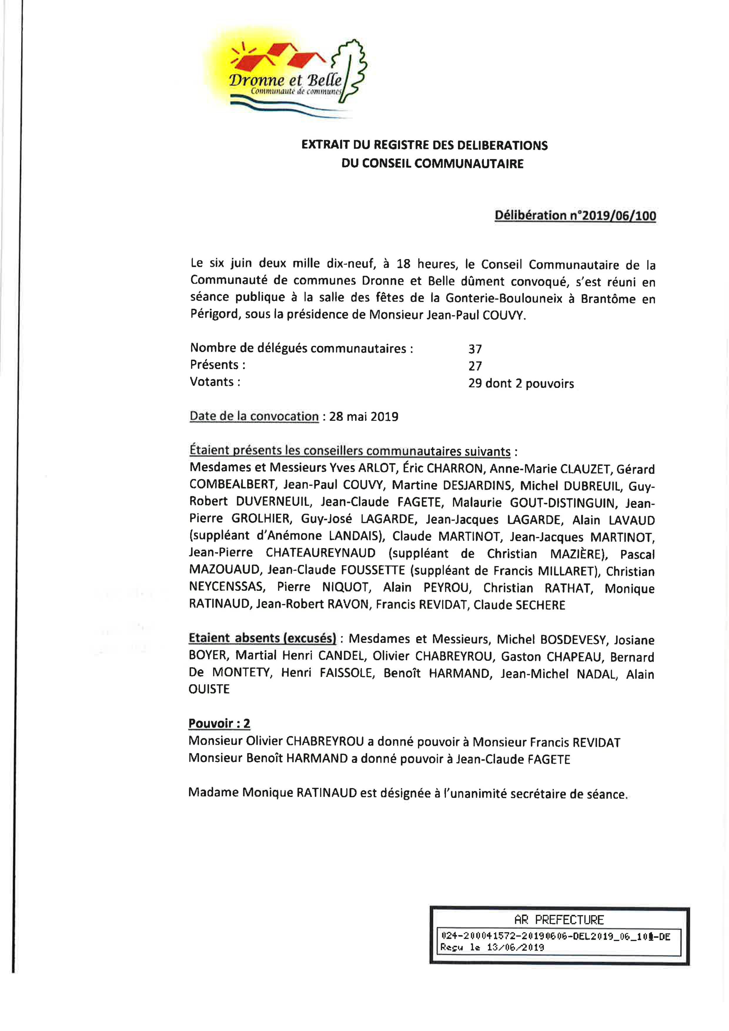 Règlement Rapport sur le Prix et la Qualité du Service de l'assainissement non collectif 2019