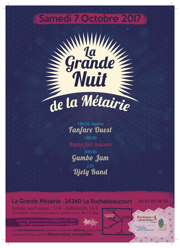 GRANDE NUIT de la Métairie 2017
