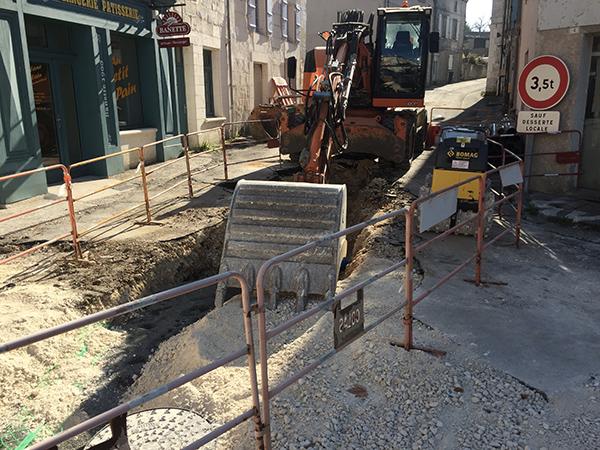Les travaux de la traverse du bourg sont lancés