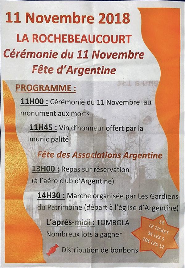 Fête d'Argentine – 11 novembre 2108