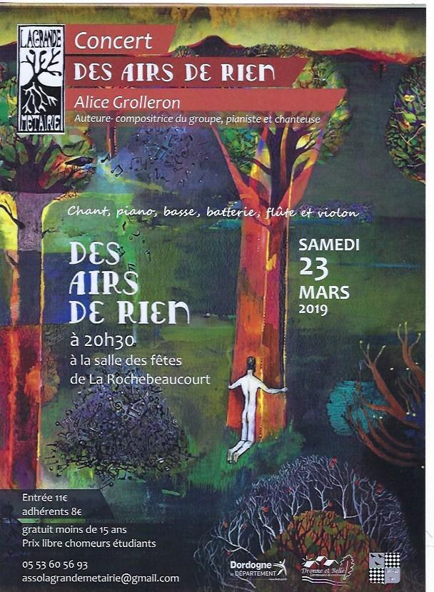 Concert DES AIRS DE RIEN Alice (Alice Grolleron)